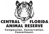 Logo for Central Florida Animal Reserve: Compassion, Conservation, Commitment.