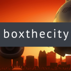 Silhouette of Orlando International Airport with the name boxthecity.