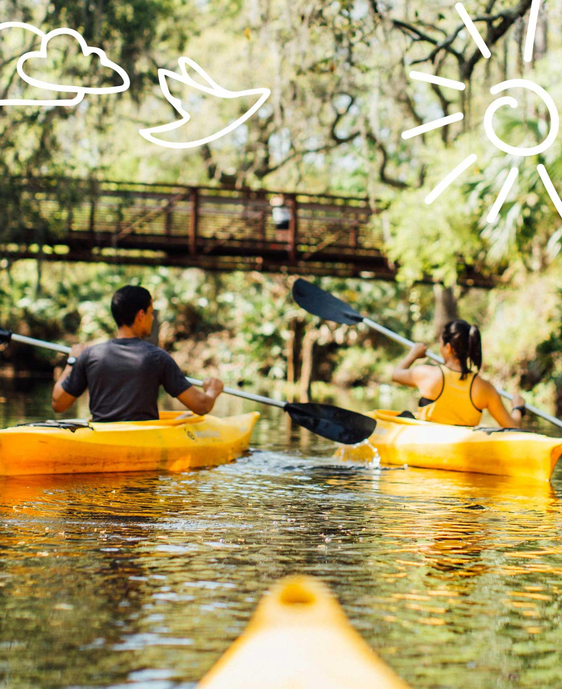 Kayaking at Shingle Creek