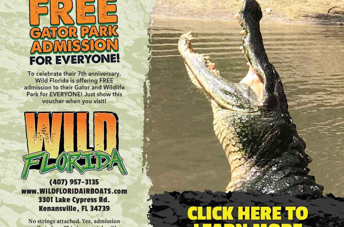 Free Gator and Wildlife Park Admission for Everyone!