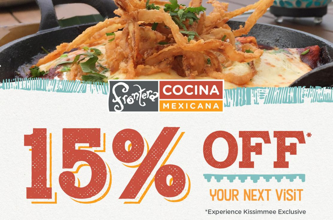 Experience Kissimmee Discount at Frontera Cocina