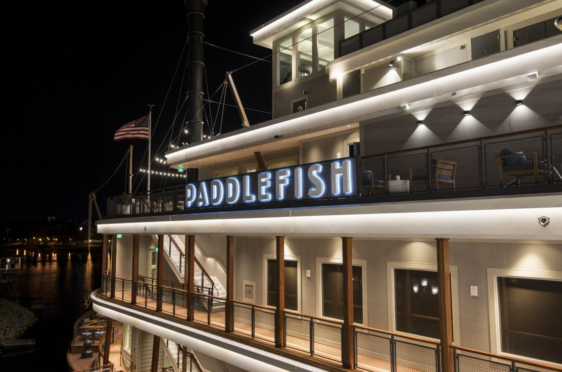 Paddlefish Side Deck Night Shot