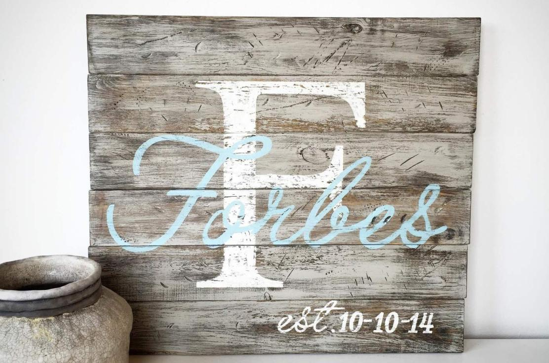 One of our most popular designs!  Classic and simple - great for your home, gift, or wedding decor!