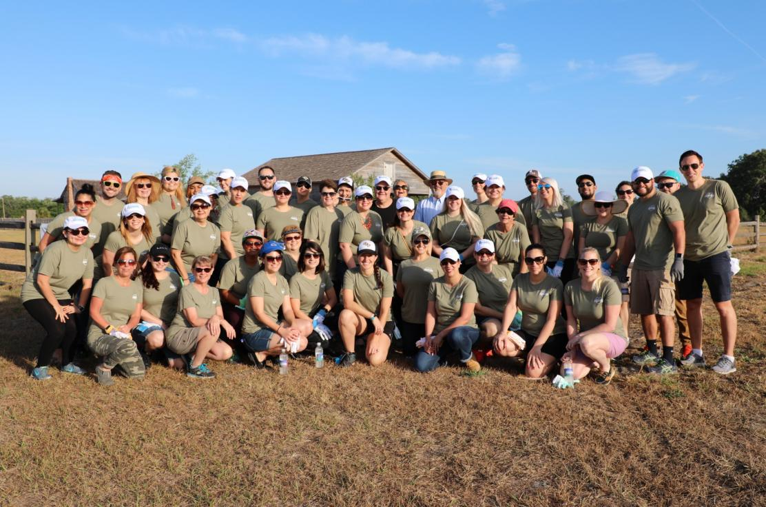 The Experience Kissimmee team at our Wildflower Planting Event.