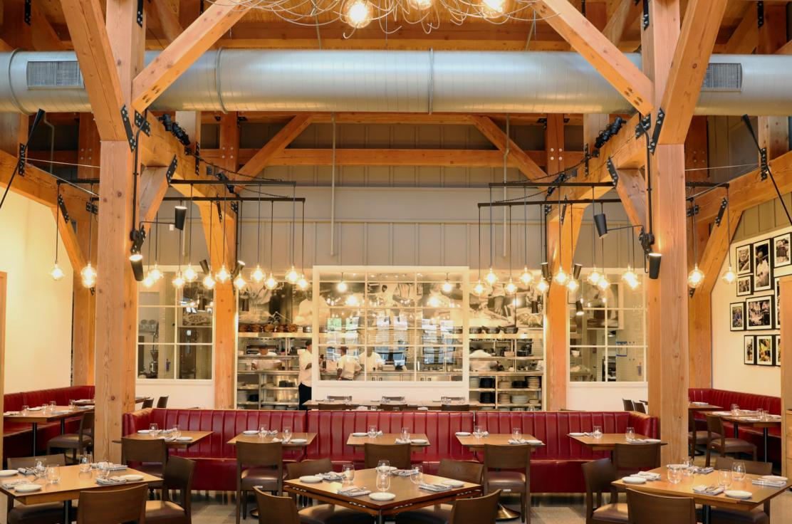 The main dinning room of Wolfgang Puck Bar & Grill at Disney Springs