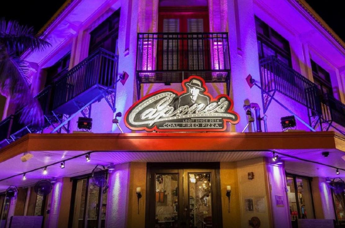 Capone's Coal Fired Pizza opening soon in the Sunset Walk at the Margaritaville Resort in Kissimmee.