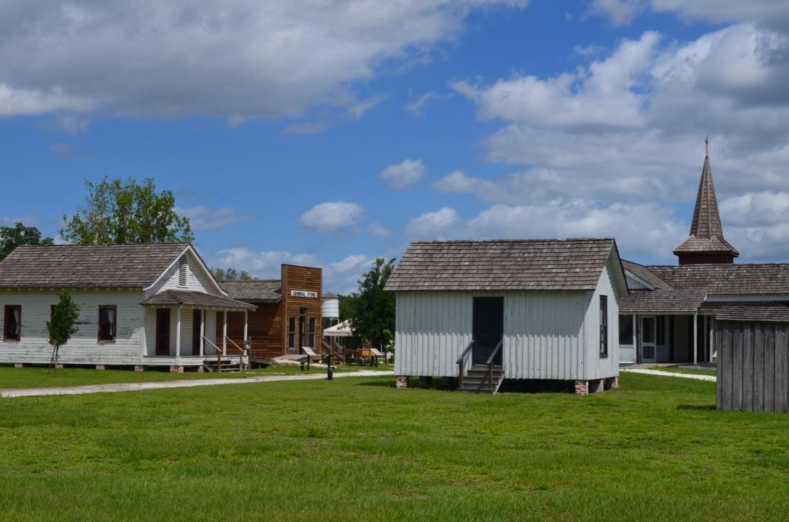 Pioneer Village at Shingle Creek features a collection of original and replica historic buildings from locations throughout Osceola County.