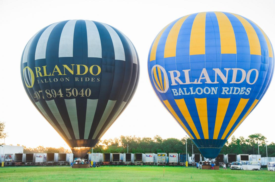 Double inflation side by side, ready for lift-off