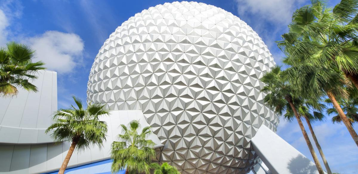 Exterior of Epcot's Spaceship Earth