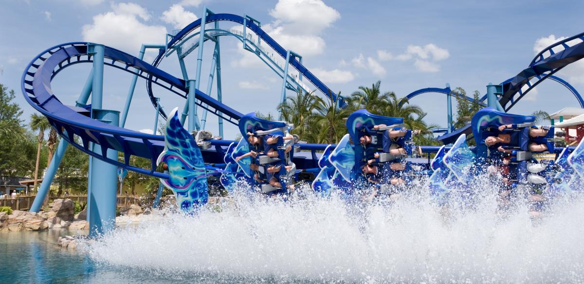 The Manta Roller Coaster at Sea World near Kissimmee, Florida