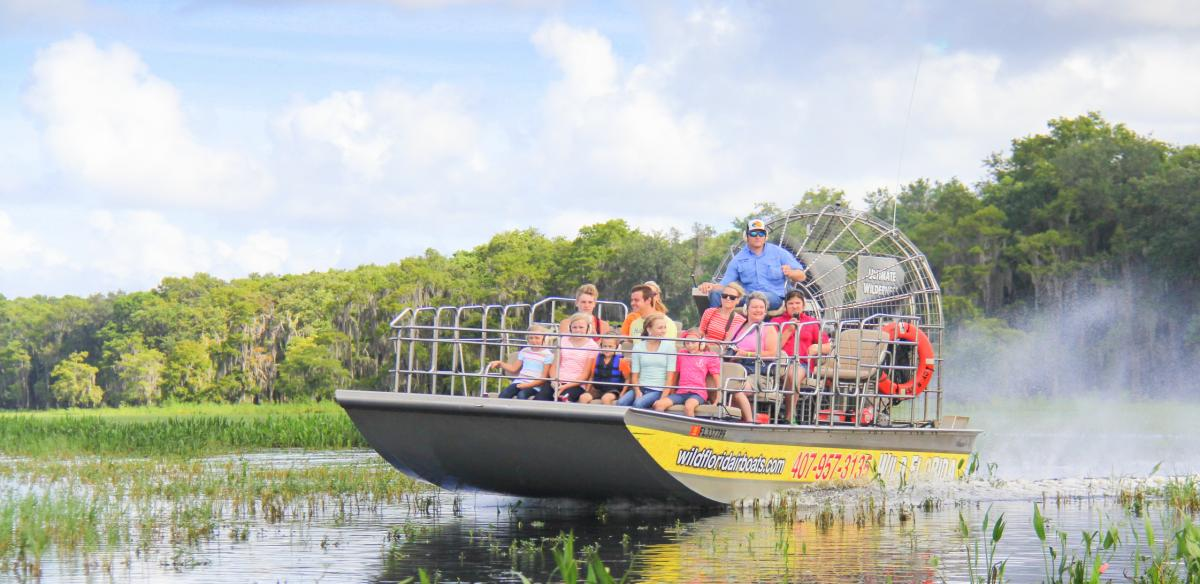 An airboat at Wild Florida