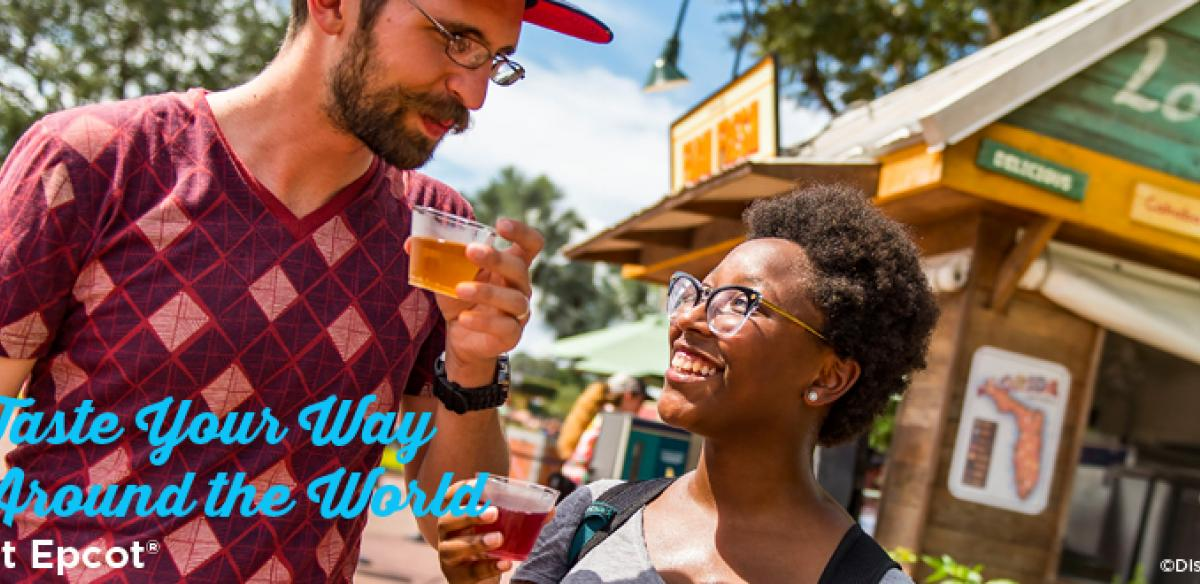 A young couple enjoy beer on an ad that says: