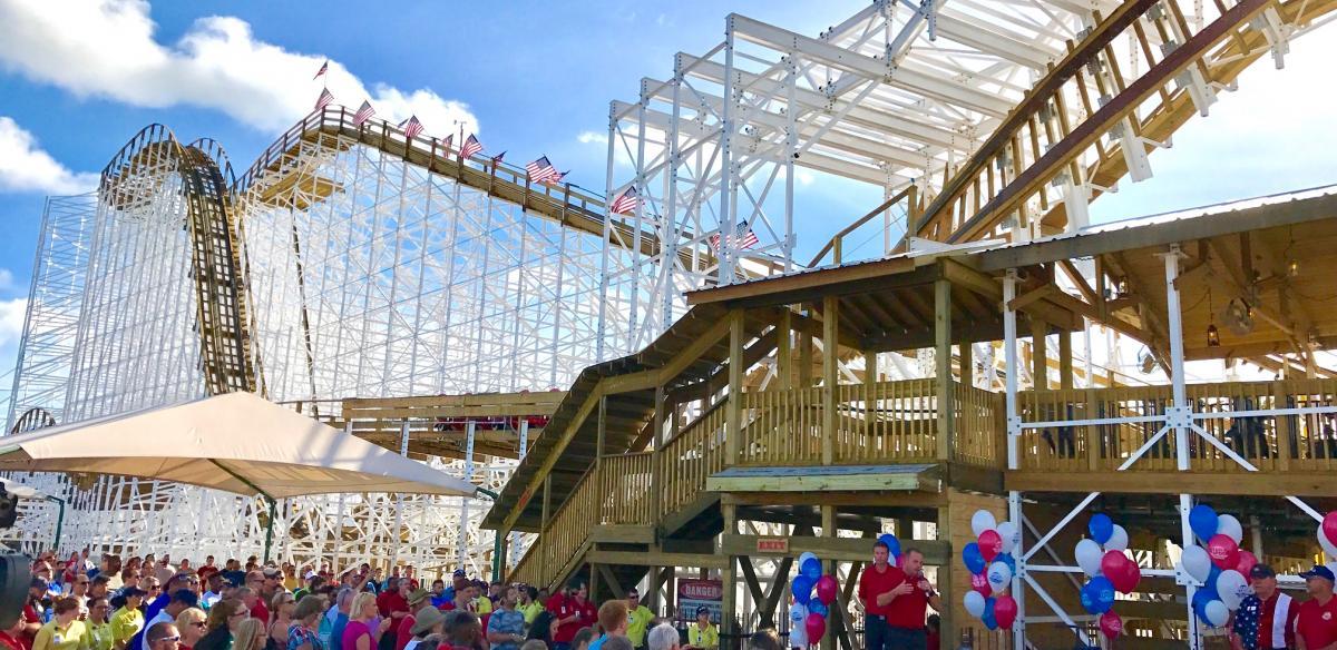 Mine Blower Roller Coaster at Fun Spot