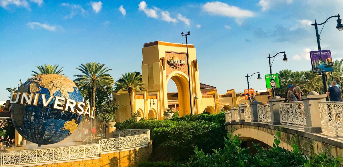 Entrance of Universal Orlando Resort
