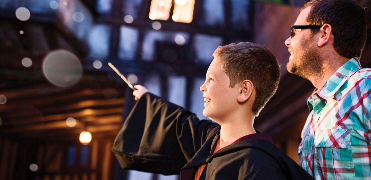 A child at the Wizarding World of Harry Potter in Kissimmee