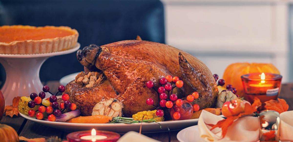 Thanksgiving Dinner with turkey.