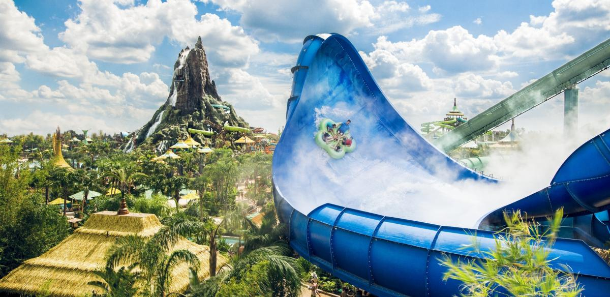 Universal Studio's Volcano Bay water park is a must-visit theme park when you stay in Kissimmee, Florida!
