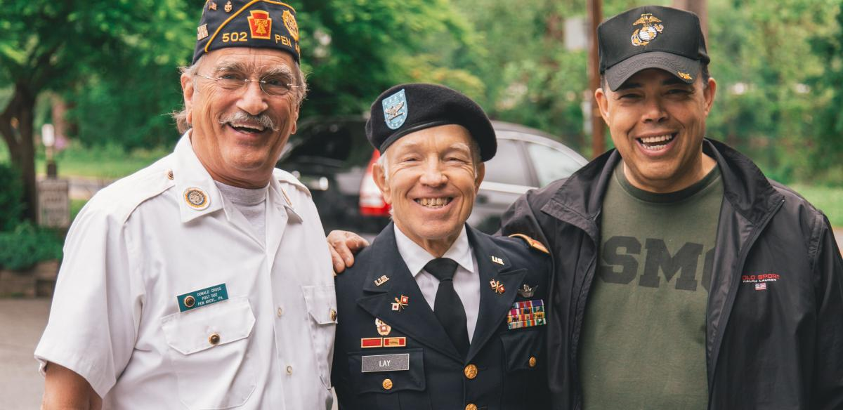 Air Force Veterans smiling for the camera