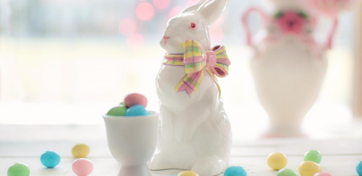 An Easter Bunny with Candy