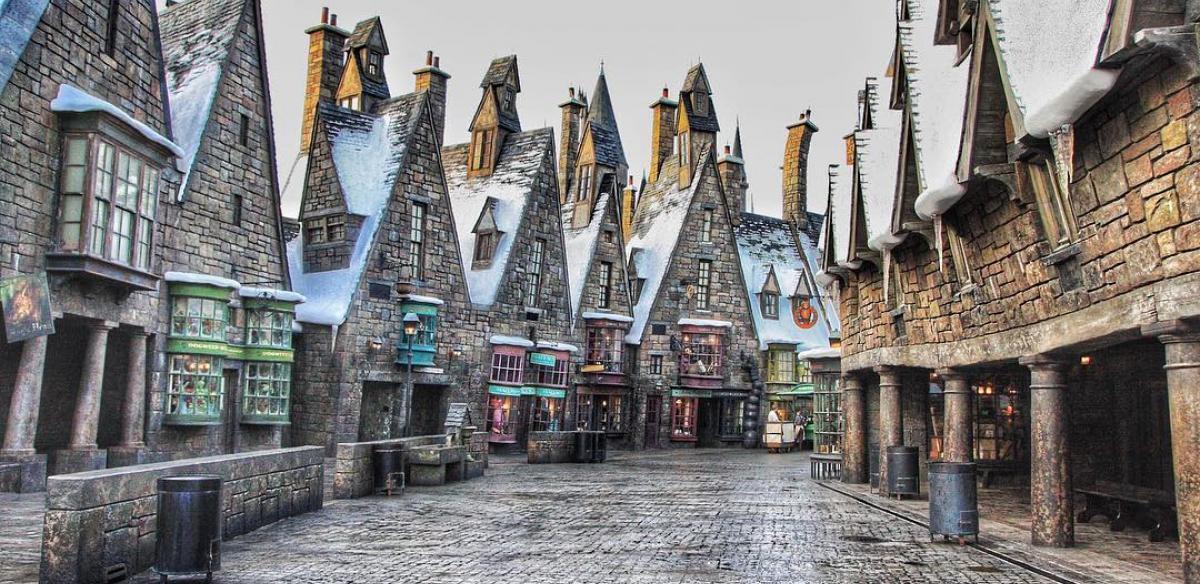 The exterior of Hogsmeade at Magic Kingdom